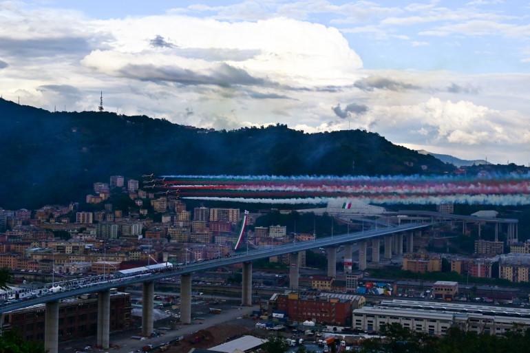 L'effondrement a eu lieu à proximité de la ville de Gênes.