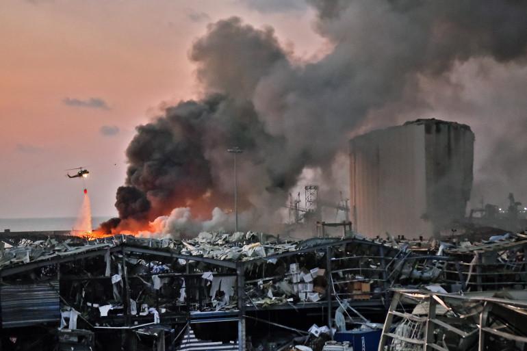 L'explosion à Beyrouth, au Liban