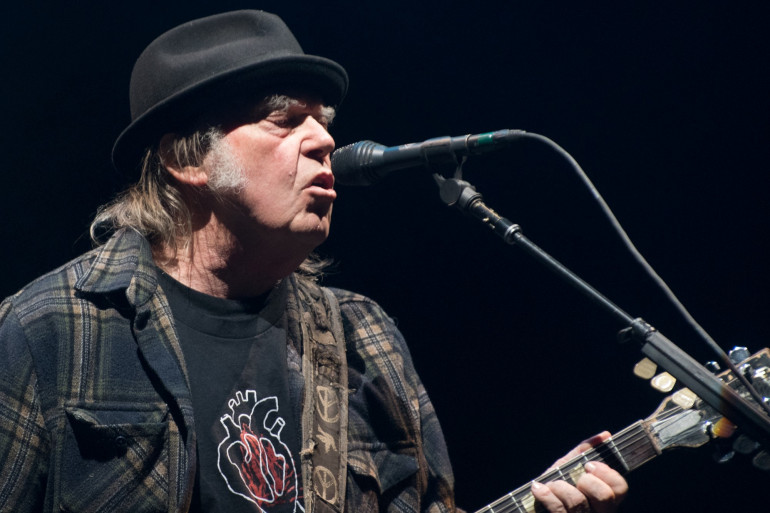 Le chanteur Neil Young en 2020