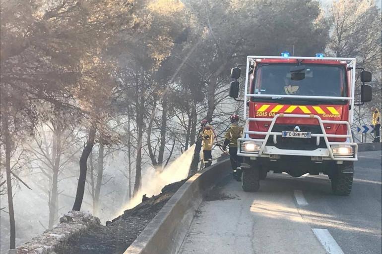 Des pompiers luttant contre les incendies à Marseille le 4 août 2020 (Image d'illustration).