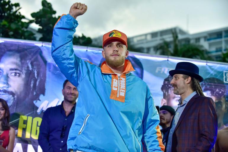 Jake Paul à Miami avant un combat de boxe, en janvier 2020.