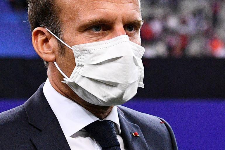 Emmanuel Macron le 24 juillet 2020 au Stade de France