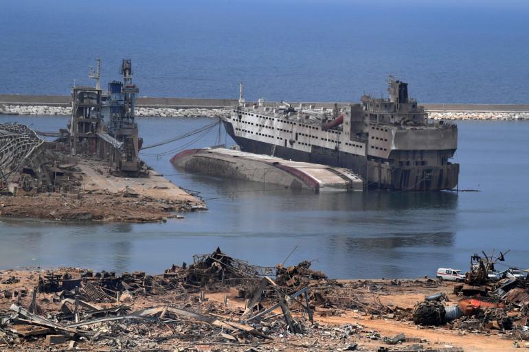 Le port dévasté de Beyrouth, le 7 août 2020