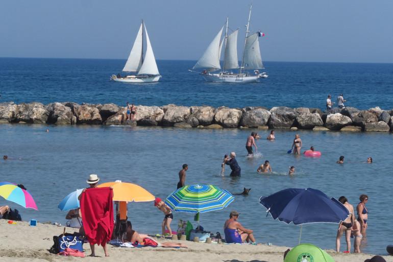 Une plage de Canet-en-Roussillon, dans le sud de la France (illustration).
