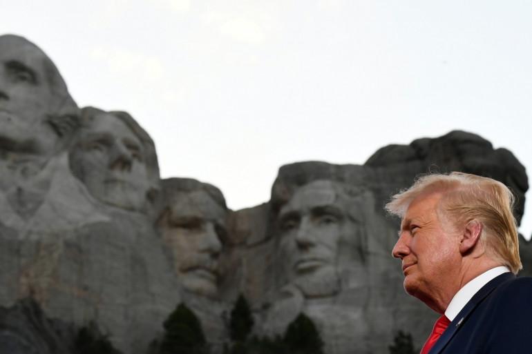 Donald Trump au Mont Rushmore, dans le Dakota du Sud, le 3 juillet 2020