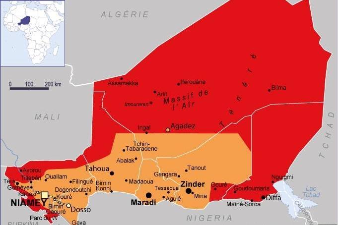 La carte du Niger sur le site du ministère français des Affaires Étrangères