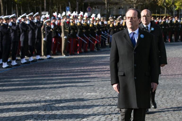 François Hollande à Paris le 11 novembre 2016