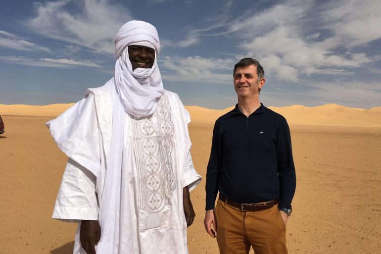 Jacques Maire, président du groupe d'amitié parlementaire France-Niger (à droite)