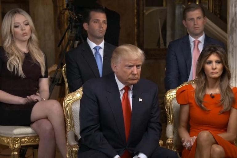 Donald Trump lors de son interview à la chaîne américaine CBS News le 14 novembre 2016