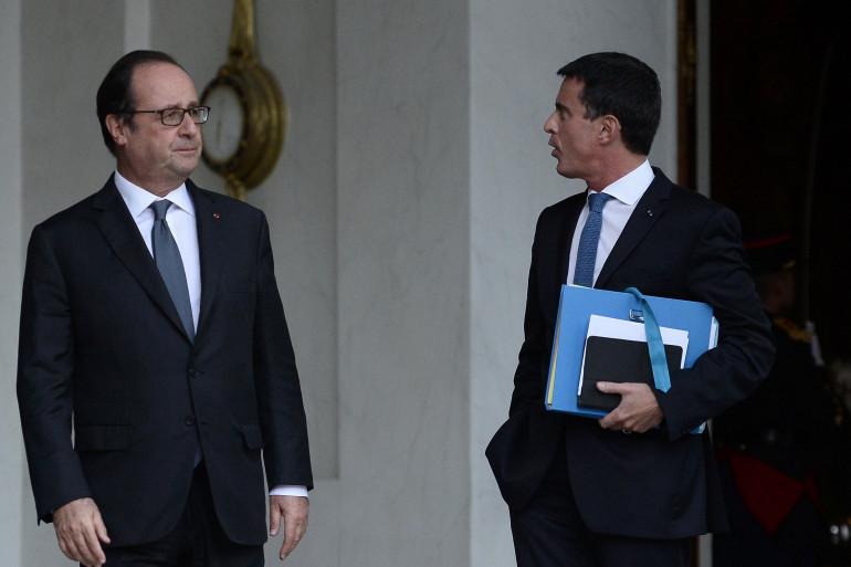 François Hollande et Manuel Valls, le 28 septembre à l'Élysée.