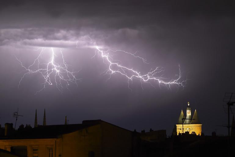 Un orage frappe Bordeaux en mai 2020 (illustration)