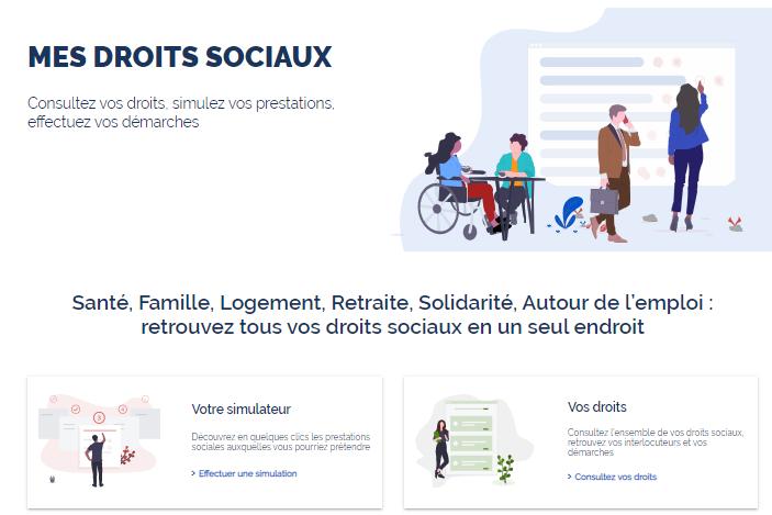 Le site mesdroitssociaux.gouv.fr permet de simuler ses droits à aides sociales (illustration)