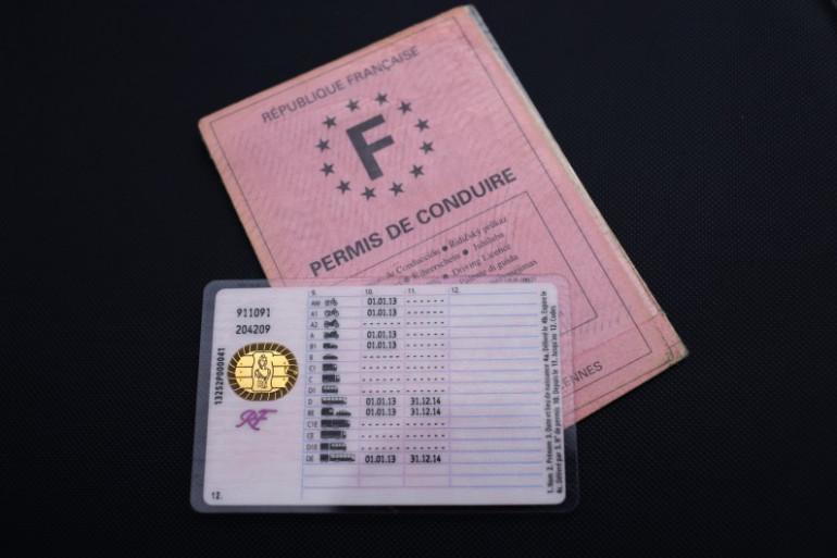 Un permis de conduire français (illustration)