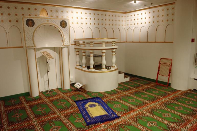 Une salle de prière (illustration)