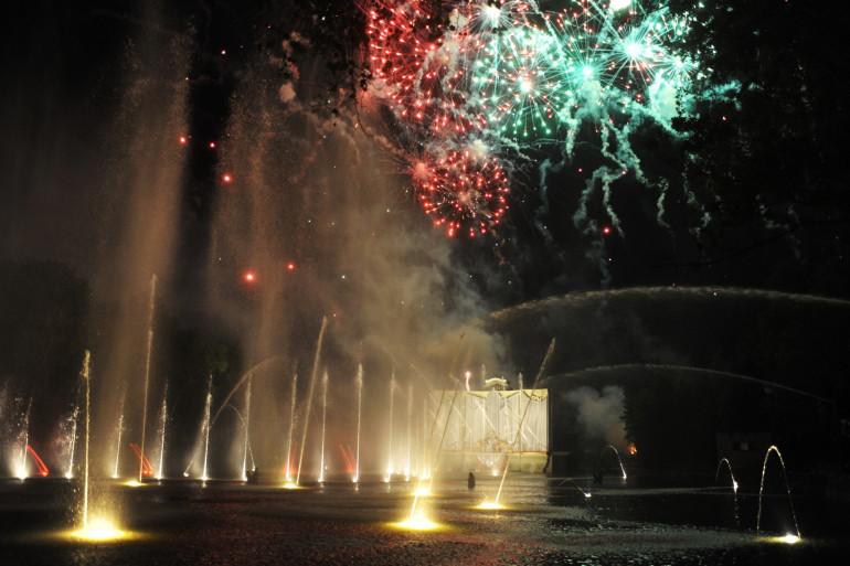 """Le spectacle """"Les orgues du feu"""", au Puy-du-Fou, le 1er juillet dernier."""