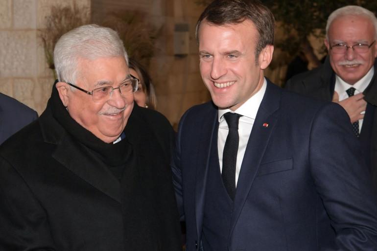 Emmanuel Macron et Mahmoud Abbas