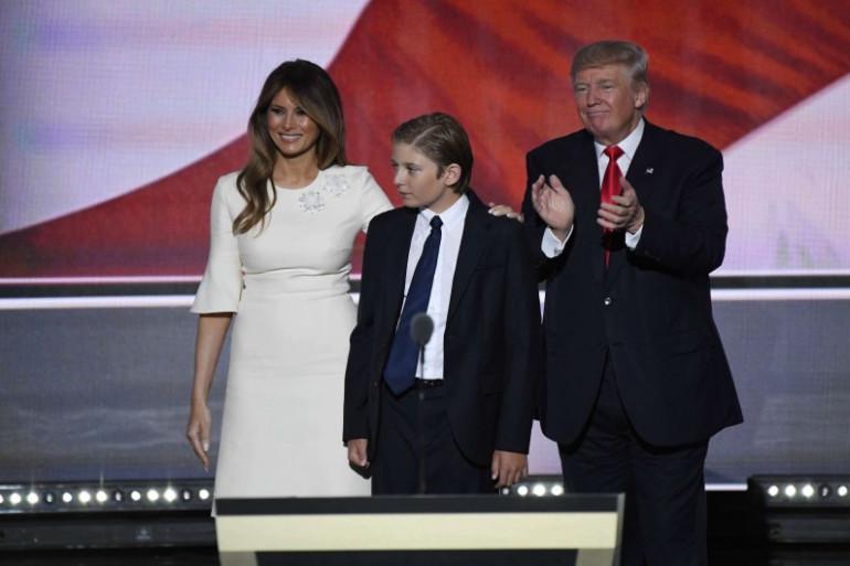 La famille Trump lors de la convention républicaine à Cleveland dans l'Ohio en juillet 2016