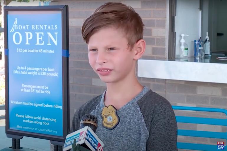 Jordan 9 ans, a reçu 5.000 propositions d'adoption après une émouvante interview sur la chaîne FOX59 News.