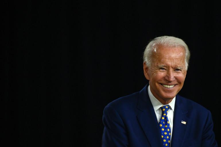 Le démocrate Joe Biden, le 28 juillet 2020, à Wilmington, dans le Delaware.