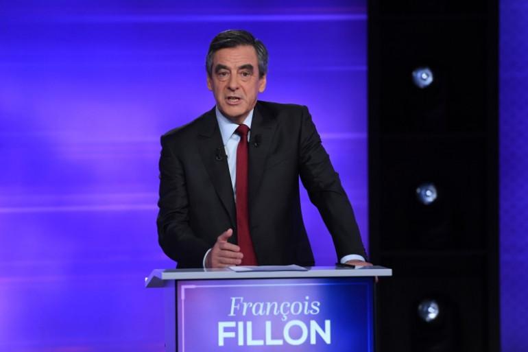 François Fillon lors du débat face à Alain Juppé, le 24 novembre 2016
