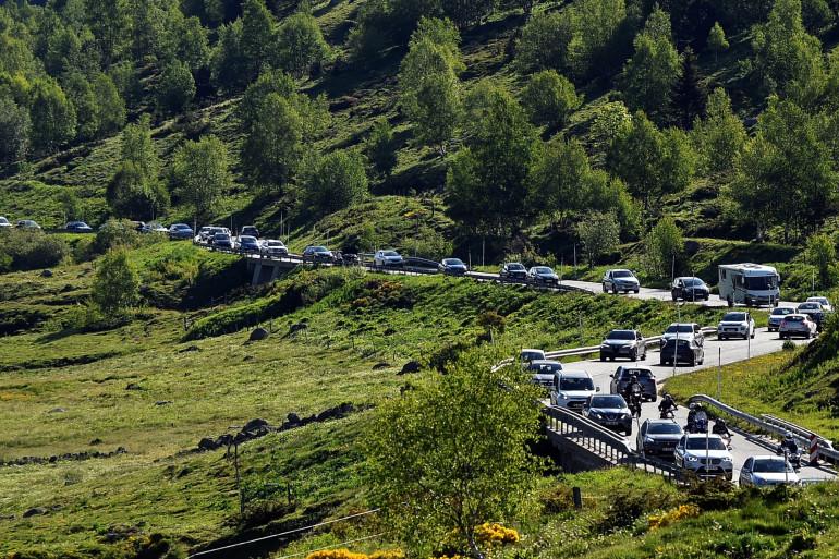 Des embouteillages au niveau d'une frontière (illustration)