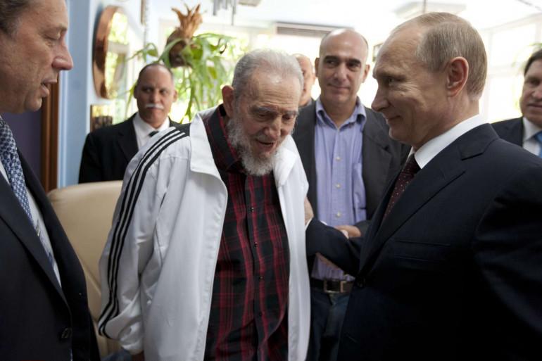 Fidel Castro et Vladimir Poutine en juillet 2014.
