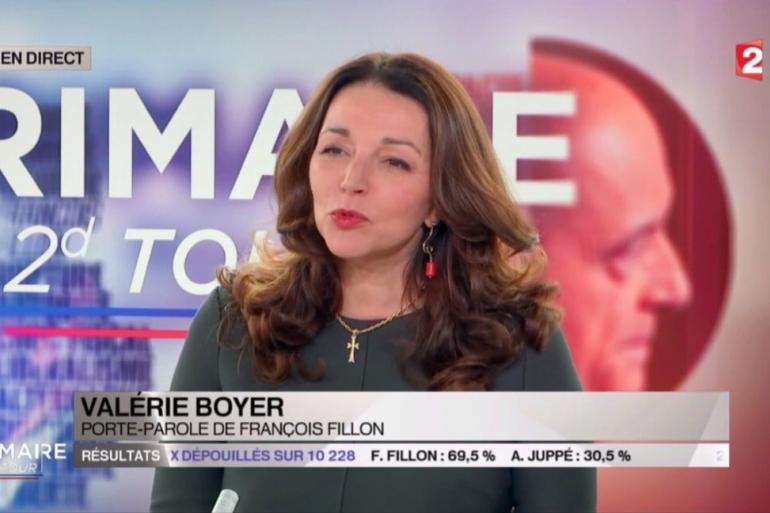 Valérie Boyer sur France 2, le 27 novembre 2016