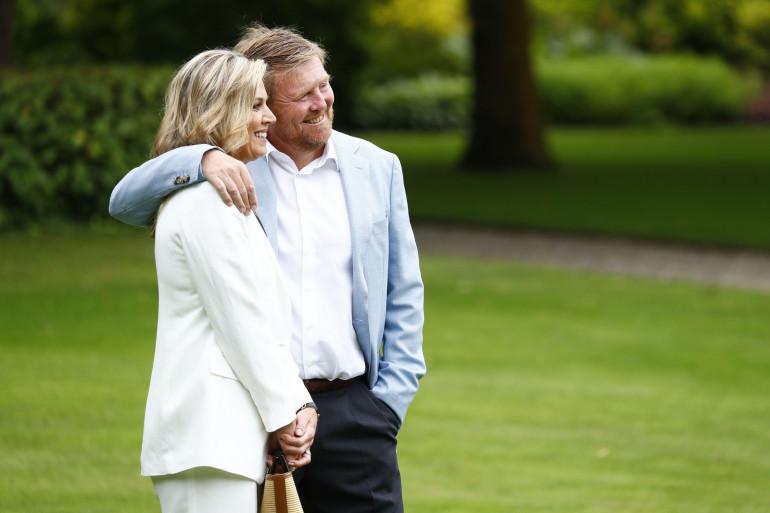 Le roi Willem-Alexander et la reine Maxima, le 17 juillet 2020