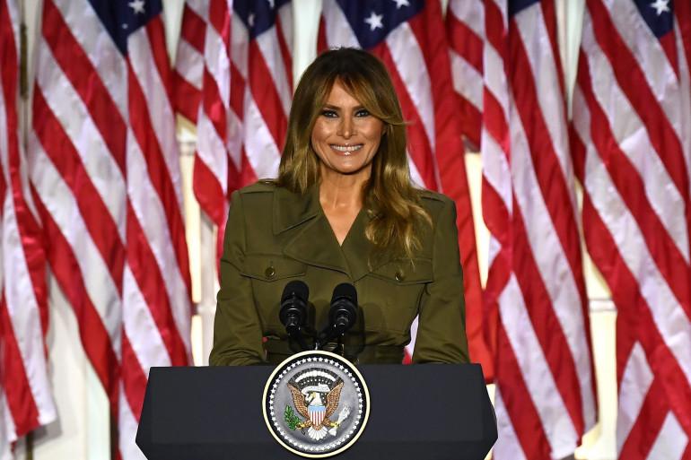 Melania Trump, le 25 août 2020, lors de la convention républicaine.