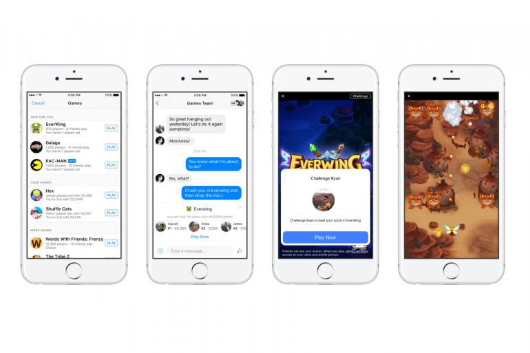 Facebook lance les jeux instantanés