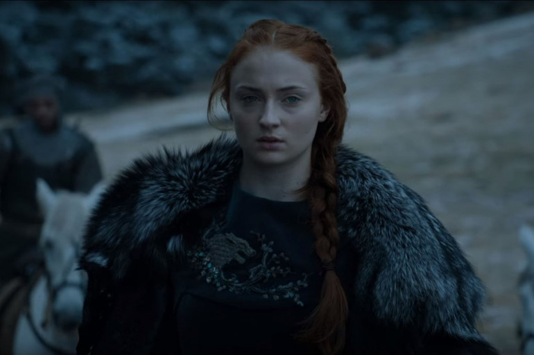 """Sansa Stark, interprété par Sophie Turner, dans la bande-annonce de la saison 6 de """"Game of Thrones"""""""