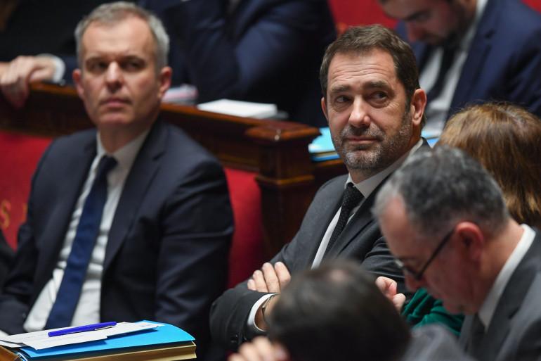 François de Rugy et Christophe Castaner, à l'Assemblée nationale, le 6 février 2019