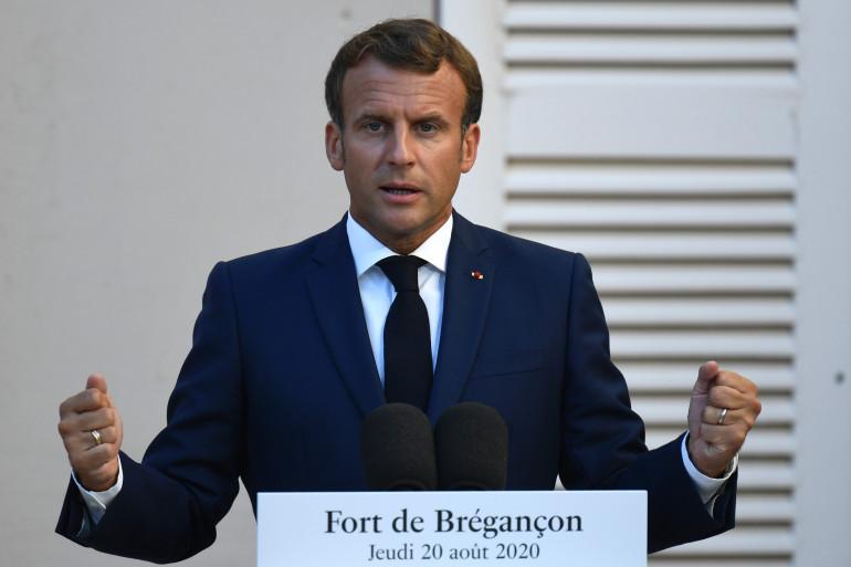 Emmanuel Macron le 20 août 2020 à Brégançon