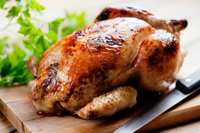 Un poulet rôti (illustration)