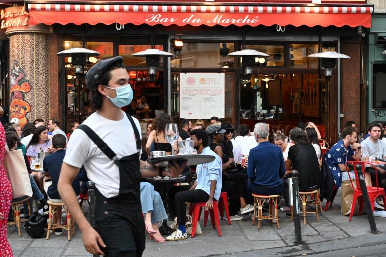 Un restaurant à Paris pendant la crise du coronavirus (illustration)