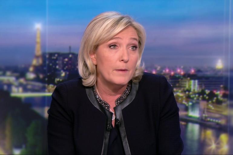 Marine Le Pen sur le plateau de TF1