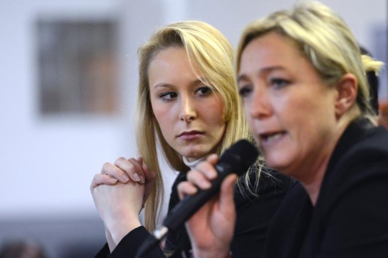 Marion Maréchal-Le Pen et Marine Le Pen le 16 novembre 2012 à Carpentras