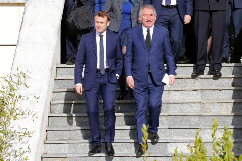 Emmanuel Macron et François Bayrou à Pau, le 14 janvier 2020