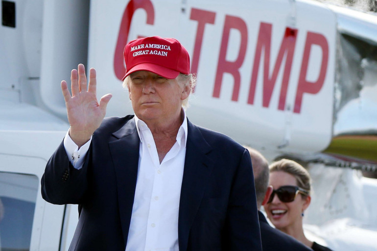 Donald Trump lors d'un tournoi de golf organisé en Écosse, le 30 juillet 2015