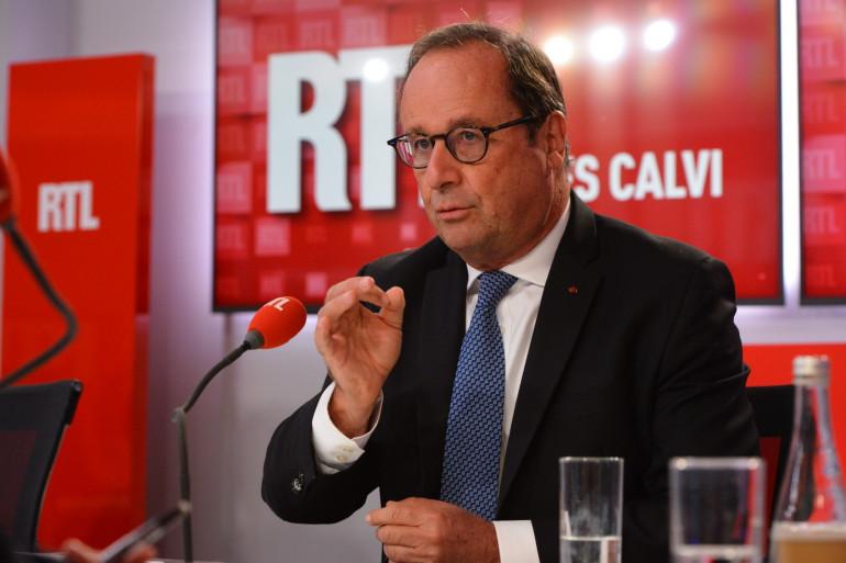 François Hollande dans les studios de RTL, le 2 septembre 2020