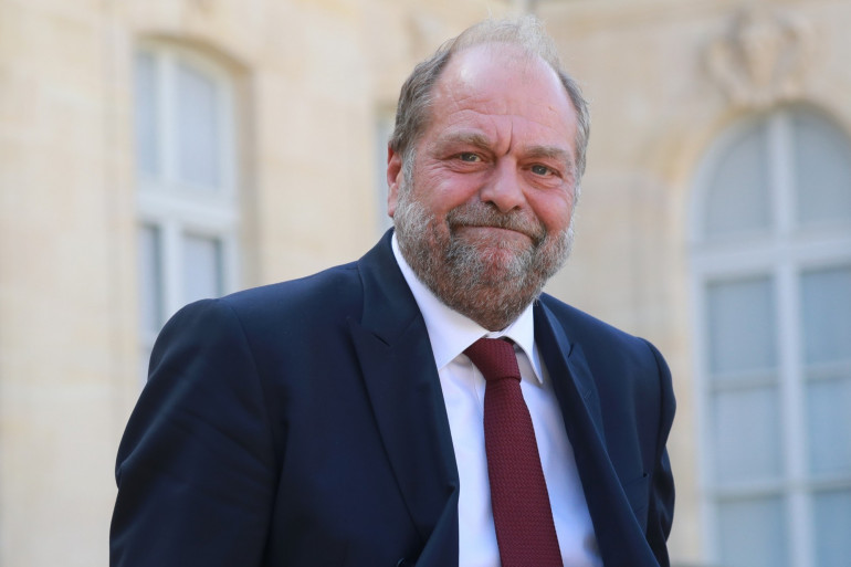 Le ministre de la Justice, garde des Sceaux, Éric Dupond-Moretti, le 26 juillet 2020, dans la cour de l'Élysée