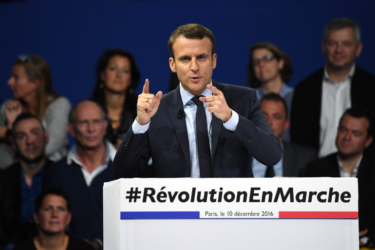 Emmanuel Macron porte de Versailles à Paris le 10 décembre 2016.