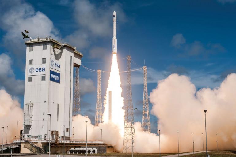Un décollage de la fusée Vega, à Kourou