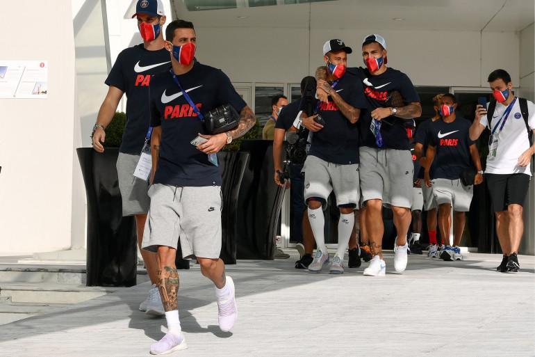 Les joueurs du PSG à Lisbonne le 17 août 2020