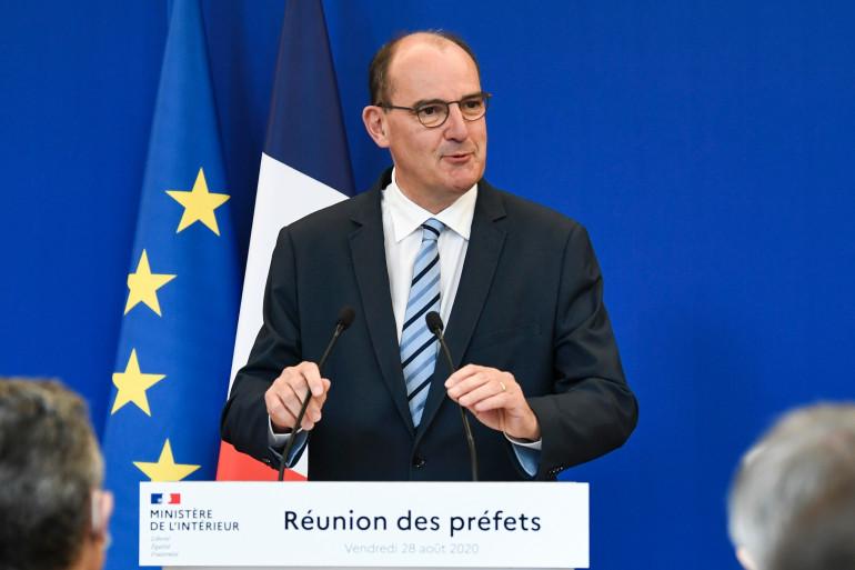 Le Premier ministre Jean Castex le 28 août 2020 à l'hôtel de Beauvau à Paris