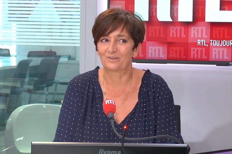 Laurence Lemarchal dans les studios de RTL