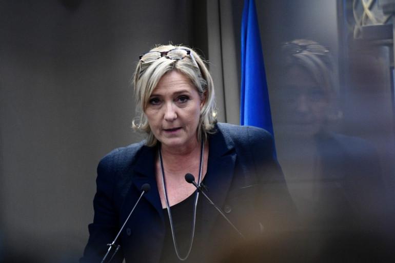 Marine Le Pen le 9 décembre 2016 à Paris