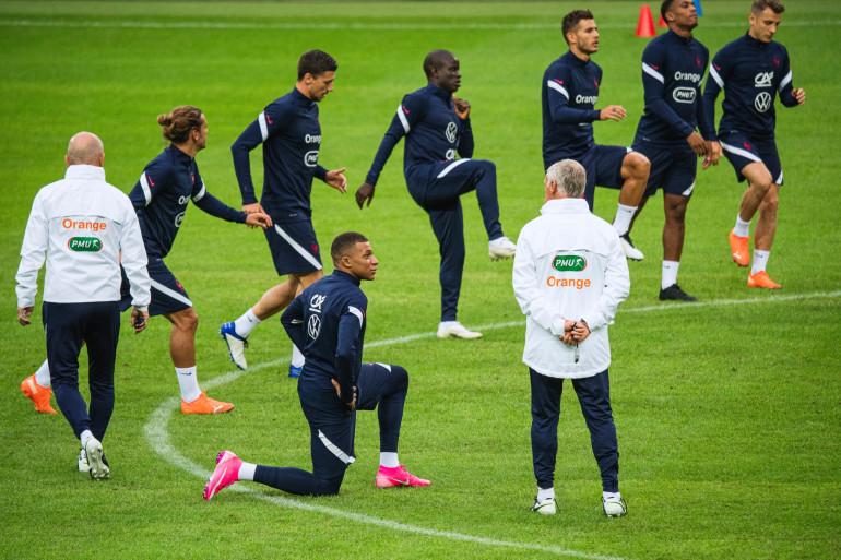 L'Équipe de France de football à l'entraînement le 4 septembre 2020