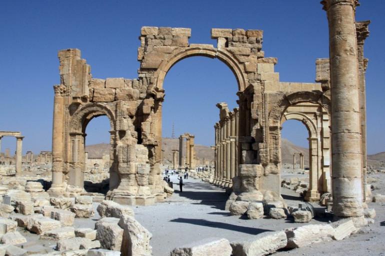 Un monument de Palmyre détruit par l'EI (illustration)