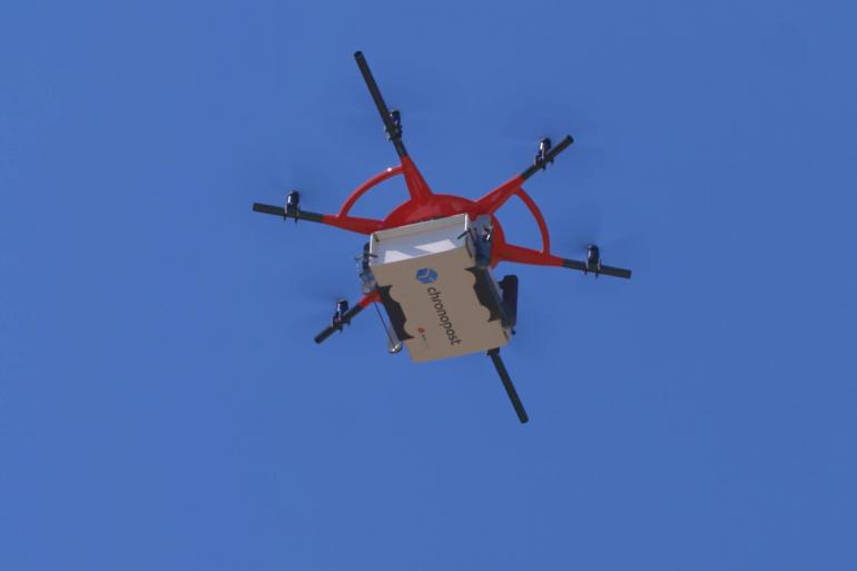 Un colis Chronopost livré par drone